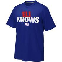 Nike New York Giants Eli Knows T-Shirt - Royal Blue