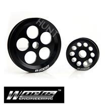 Works Steering Alternator Pulley Kit For Honda Civic EG EK Integra DC2 B16A B18C