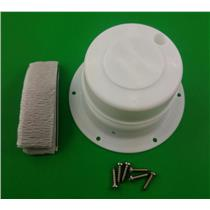 Camco 40033 RV Trailer White Plumbing Vent Cap & Base Replacement Kit