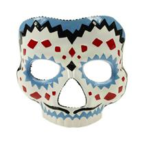 Plastic Female Day of the Dead Mask