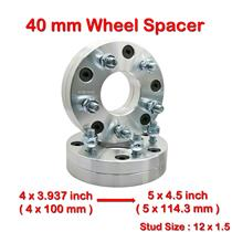 2 pcs 40mm 4 Studs 12 x 1.5 PCD 4 x 100 to 5 x 114.3 mm Wheel Spacer Spacers