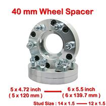 2 pcs 40mm 5 Studs 14 x 1.5 PCD 5 x 120 to 6 x 139.7 mm Wheel Spacer Spacers