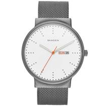 Skagen SKW6321 Titanium Watch w/ Day/Date. Gray Stainless Steel Mesh Bracelet