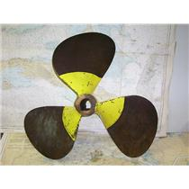 "Boaters' Resale Shop of TX 1611 2574.02 BRONZE 3 BLADE 28RH32 PROP FOR 2"" SHAFT"