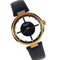 Kenneth Cole 10007871 KC2643 Ladies Rose Gold Tone and Blue Strap See-Thru Watch