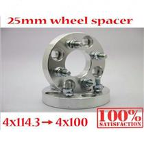 2 pcs 25mm 4x114.3 to 4x100  Wheel Spacers fix AE86 Corolla Trueno Levin m12x1.5