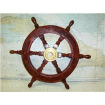 "Boaters' Resale Shop of TX 1.81 DECORATIVE 18"" WOODEN SHIP'S WHEEL"