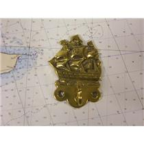Boaters' Resale Shop of TX 773692321622 DECORATIVE BRASS GALLEON COAT HOOK