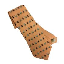 NWT Auth Off Island Tommy Bahama Men's Peach Boca Beach Chairs 100% Silk Necktie