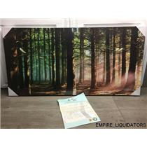 "Factory Sealed Creative arts 40"" x 20"" Canvas Print - Forest / Woods - New"
