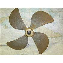 "Boaters' Resale Shop of TX 1612 0251.01 BRONZE 4 BLADE 23LH22 PROP FOR 2"" SHAFT"