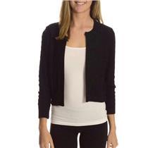 S NWT Tommy Bahama Seaside Silk/Cotton Black Cardigan Sweater w/Hook & Eye Top