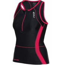 2XU Active Tri Singlet Women's Small Black / Hot Pink