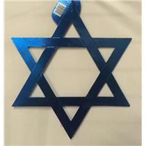 "15"" Blue Hanukkah Foil Star of David Silhouette Paper Party Decoration"