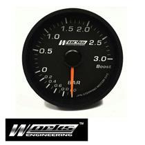Works 60mm 3 Bar Turbo Boost Meter Gauge LED PSI Universal