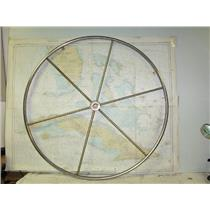 """Boaters' Resale Shop of TX 1612 0444.11 EDSON 36"""" STAINLESS STEEL STEERING WHEEL"""