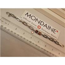 Mondaine Watch Charm Bracelet Stainless Steel Attach Your Favorite Trinket/Watch