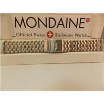 Mondaine Swiss Railways Watch Bracelet 20922. 22mm Curved End Stainless Steel