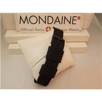Mondaine Swiss Railways Watch Band One Piece Canvas 20mm Black Extra Long