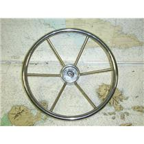 "Boaters' Resale Shop of TX 1611 2425.04 STAINLESS STEEL 15"" STEERING WHEEL"