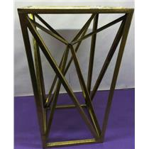 Madison Park Modern Maxx Gold Angular Square Mirror Accent Table Goldtone Finish