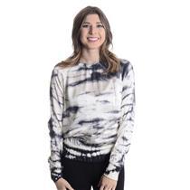 S Nike Silk Crew Shirt Black White Tie Dye Raglan Sleeve Top Banded Hem & Cuffs