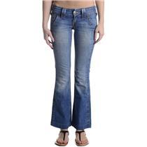 Sz 24 Authentic True Religion Sammy Light Wash Jeans w/Flat Back Pockets 045290M