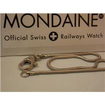 Pocket Watch Fob Stainless Steel Snake Chain w/Spring Clip/Split Ring. 16 inches