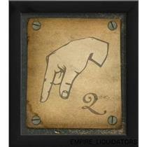 """The Artwork Factory Ready-to-hang 9"""" X 8"""" Sign Language Q Framed Print -A"""