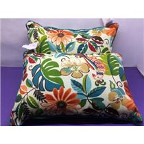 2 NICE Outdoor Multi-Colored Toss/Throw Pillows