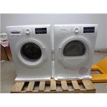 Bosch 300 Series Front Load Washer & Dyer White +Stacking Kit Descriptive Image