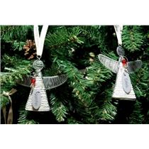 2 Nice Heart for Africa Christmas ornament Angels