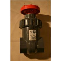 "Spears 1-1/2"" Gate Valve, IPS PVC, BUNA, 200 PSI Water 73F Threaded"