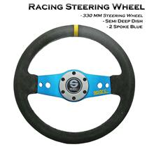 330mm Suede Leather Deep Dish Racing Steering Wheel Can Fit MOMO SPARCO Boss Kit
