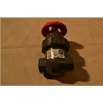 "Spears 1/2"" Gate Valve, IPS PVC, BUNA, 200 PSI Water 73F Socketed NSF-61"