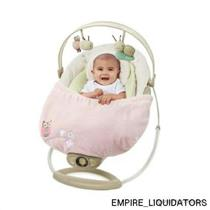 NEW - Comfort & Harmony Snuggle Stay Swing and Bouncer Blanket - Hoo Loves Pink