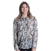 12 Authentic NWT Pendleton Paisley Cabaret Silk/Cotton Blouse Reverse Pleated