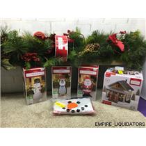 CHRISTMAS = Holiday Time 9' Garland, 4' Inflatable Snowman, Penguin & Santa