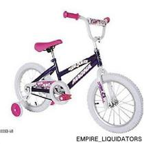 FACTORY SEALED Dynacraft Girl's Magna 16'' Starburst Bike - Purple/White 8053-40