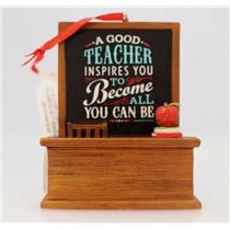 Hallmark Direct Imports Ornament 2013 A Good Teacher - Apple for Teacher DIR2766