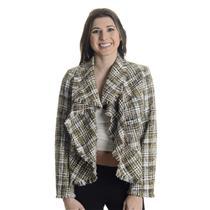 S NWT Katherine New York White Brown Boucle Tweed Waterfall Blazer Jacket 13302