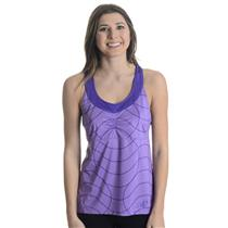 NWT Sz M New Balance Printed Racerback Tennis Scoop Neck Tank Top in Purple
