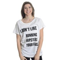 M NEW Chrldr I Dont Like Running Hipsters Your Face Check Box Tunic Long T-Shirt