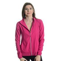 NWT Sz M Lija Shadow Ruched Detail Long Sleeve Tennis Jacket in Raspberry Pink
