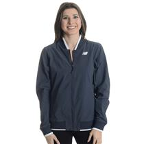 NWT M New Balance Anthracite Tournament Full Zip Jacket w/ Knit Ribbed Collar