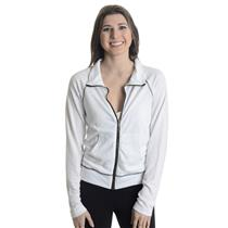 XS New Free People MVP Track Jacket White Black Contrast Raglan Full Zip Front