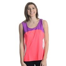 NWT Sz L Fila Center Court Full Cover Tennis Tank in Fiery Coral/Electric Purple