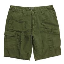 36 NWT What Goes Around Comes Around Olive Green Khaki Destroyed Tepee Shorts