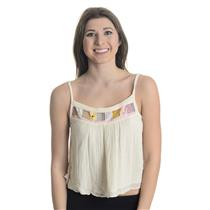New XS Jen's Pirate Booty Cotton Gauze Floral Detail Prudence Top In Natural