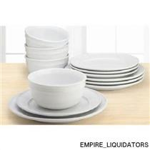 Amelia 12-Piece Solid Color Round Dinnerware Set in White model MS16-054-687-21